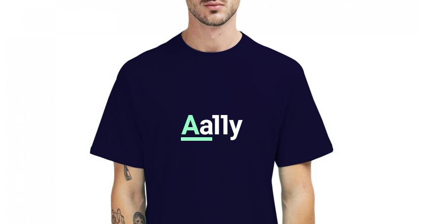 Aally logo op zwart t-shirt