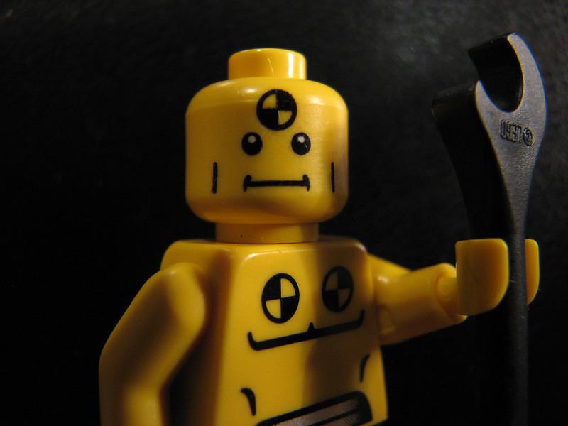 Crash test dummy van LEGO