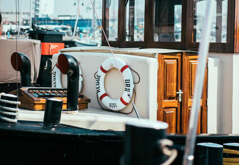 Kajuit van Urker vissersboot